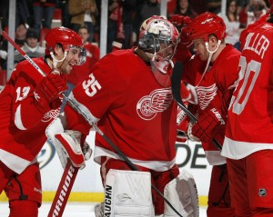 Without MVP goalie Jimmy Howard this year, the Wings are out of the playoffs.